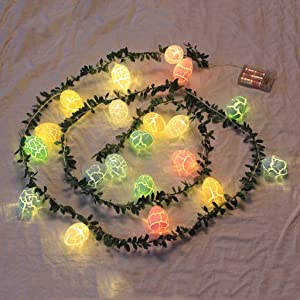 20 LED Holiday String Lights with Wreath,Battery Operated Birthday Garland with 20 LED Lights Decorations for Birthday Upstairs Porch Bedroom Outdoor Home Decor Holiday Party