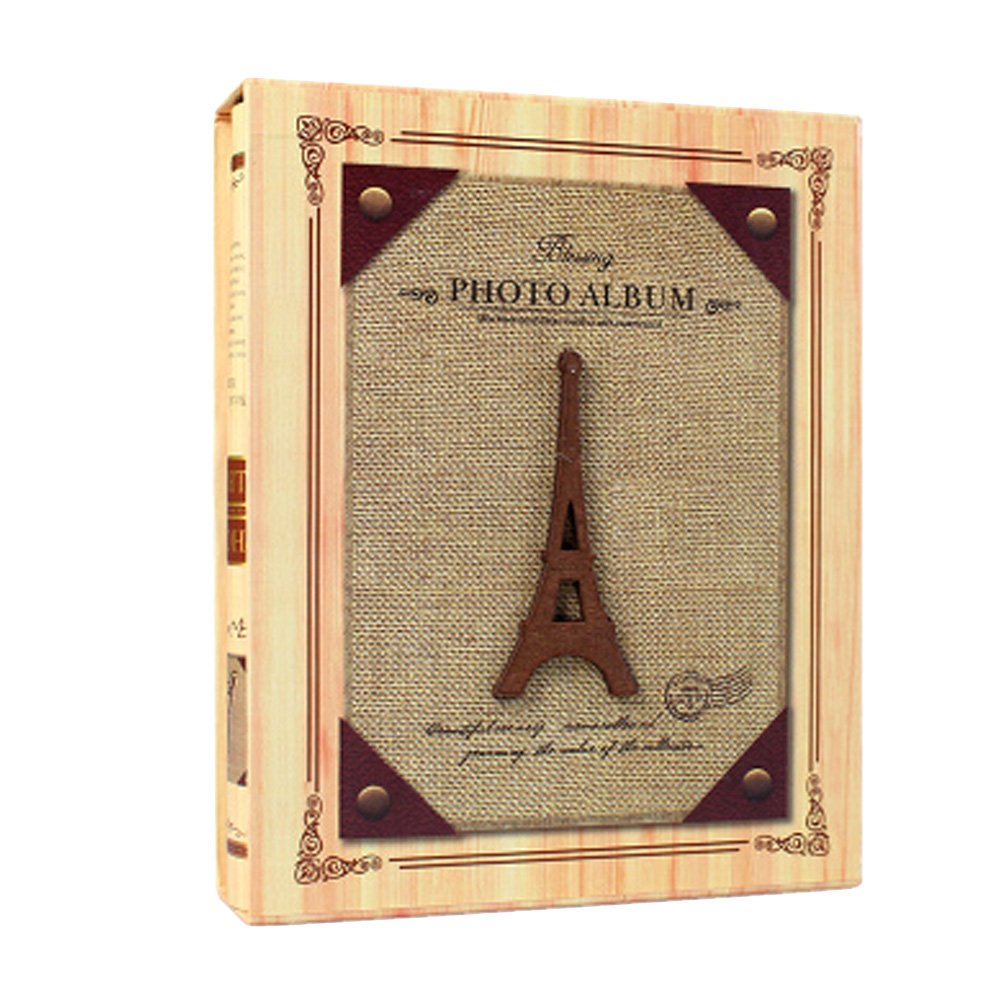 Classic Insert Type Photo/Picture Albums box-packed Photograph Book Wooden Tower