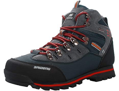 3f384b2c SINOES Zapatillas de Camping y Acampada para Hombres Zapatos de Senderismo  Montaña Calzado de Trekking Impermeable