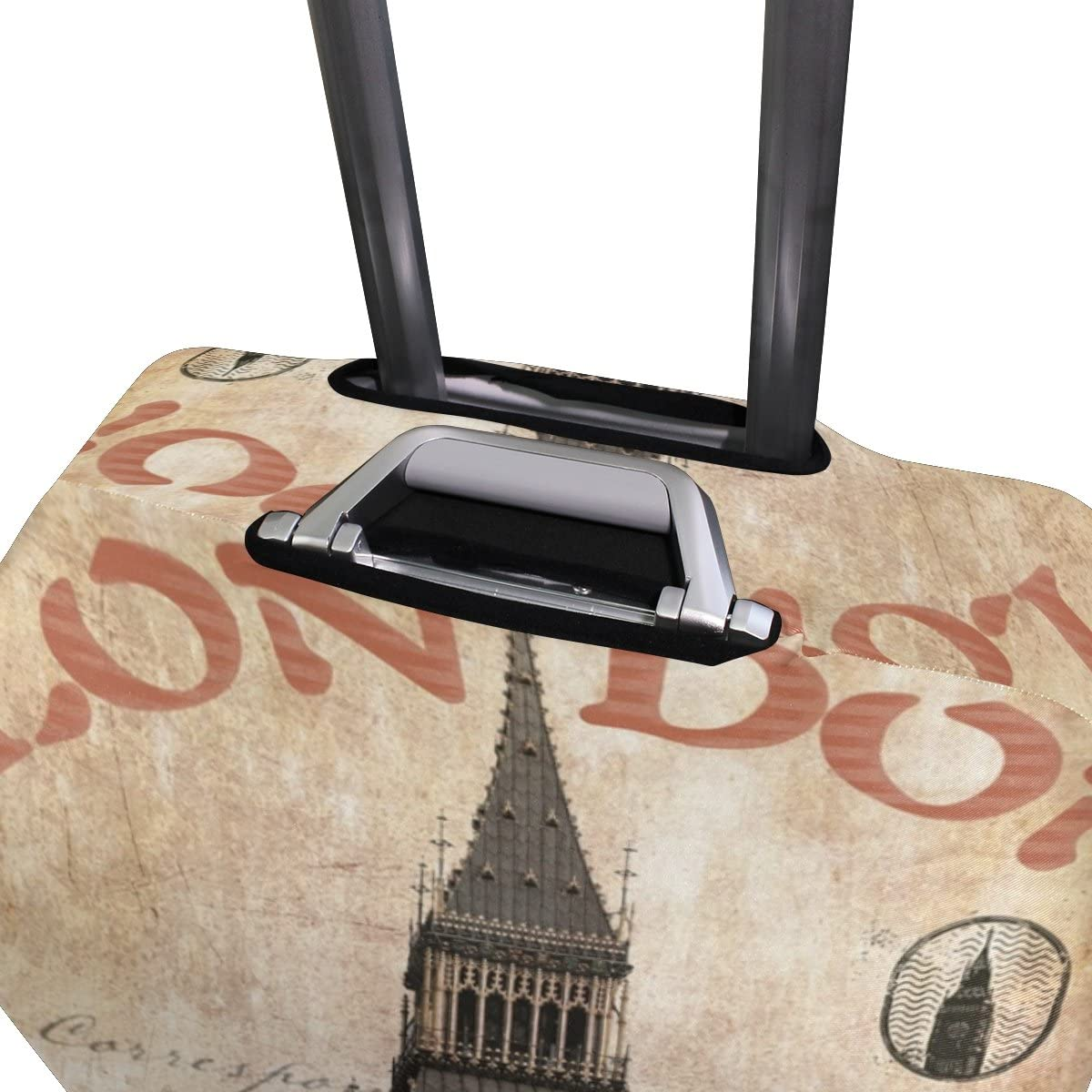 Luggage Protective Covers with Surfing Vintage Big Ben Washable Travel Luggage Cover 18-32 Inch