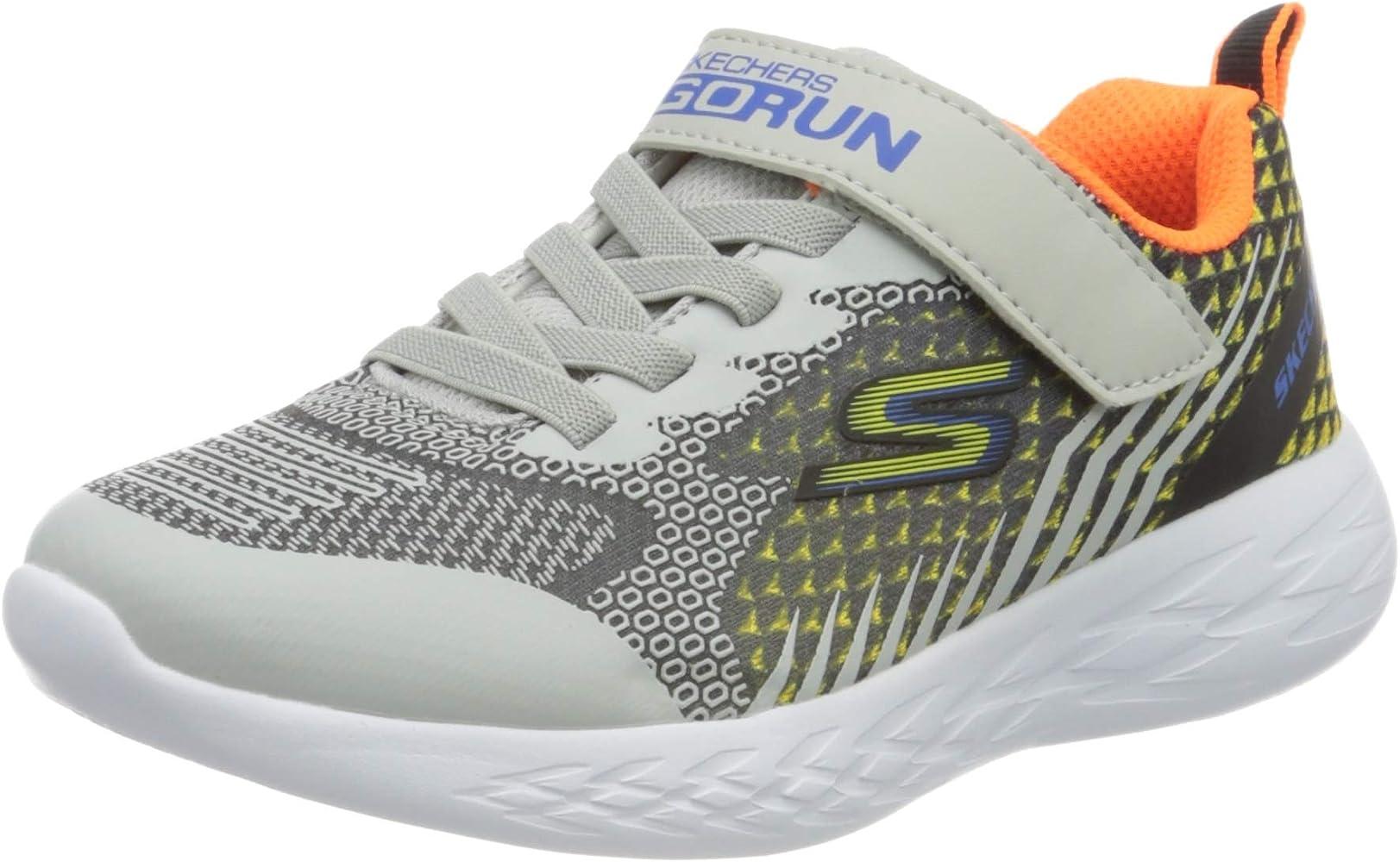 evaluar carga Cantina  Amazon.com | Skechers Boy's GO Run 600 BAXTUX Trainers, Black Black  Charcoal Mesh Light Gray Synthetic Bkgy, 32 | Sneakers