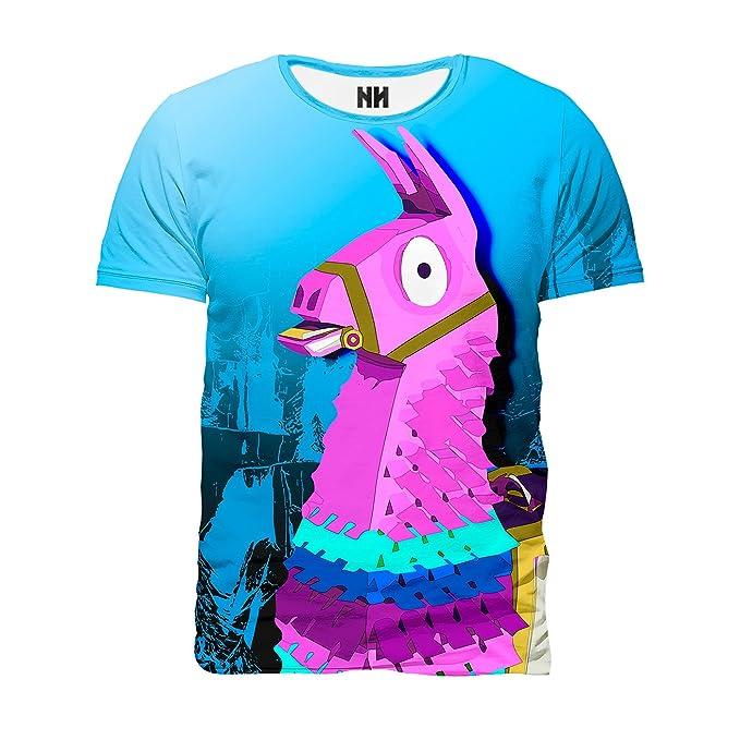 Noorhero Camiseta de Hombre - Lama Fortnite: Amazon.es: Ropa y accesorios