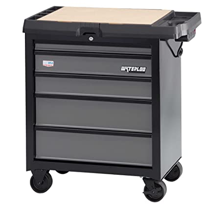 Stupendous Waterloo W100 Series 5 Drawer Mobile Workbench With Integrated Power Strip 26 W Pabps2019 Chair Design Images Pabps2019Com