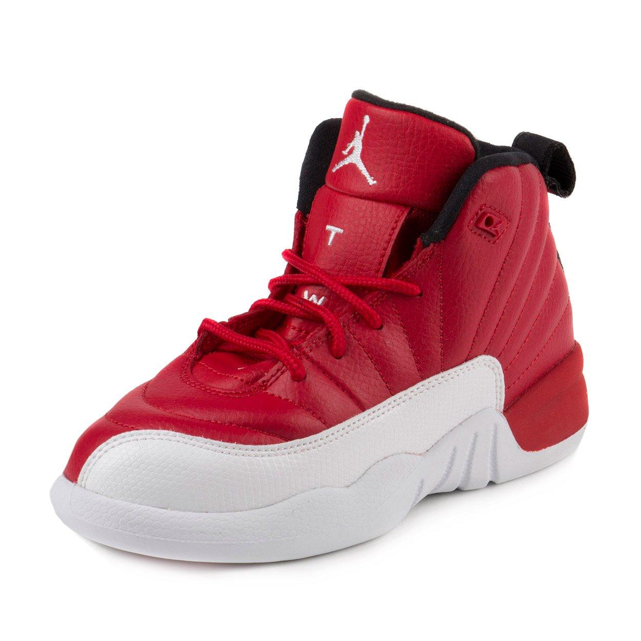 Nike Baby Boys Jordan 12 Retro BP Gym Red/White-Black Suede Size 13C