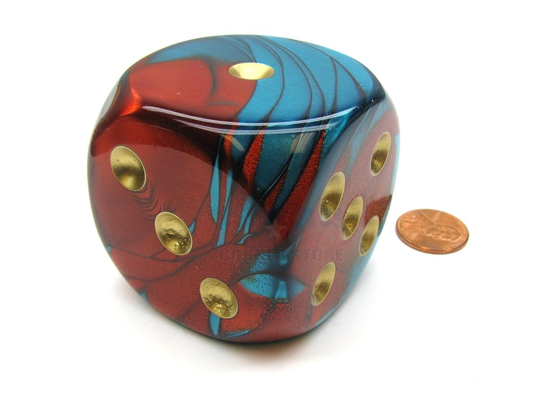 堅実な究極の Gemini Chessex 50mm Huge Large D6 Gold Chessex with Dice, 1 Piece - Red-Teal with Gold Pips B01723B4G6, 小県郡:7a28a218 --- arianechie.dominiotemporario.com
