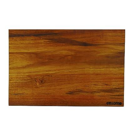 Eesome Burmese Teak Wood Reversible Cutting Board Rectangle Shape Brown