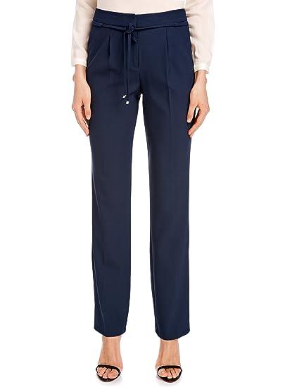 1030d269f oodji Collection Femme Pantalon avec Cordon de Serrage à la Taille