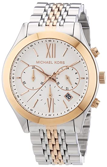 Amazon.com: Michael Kors Brookton Two-Tone Stainless Steel Womens Watch - MK5763: Michael Kors: Watches