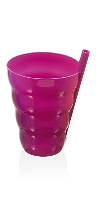 Amazon.com | Sip - a - cup, with Built-in Straw - Colors Vary - Qty:1: Cruet Sets: Glassware & Drinkware