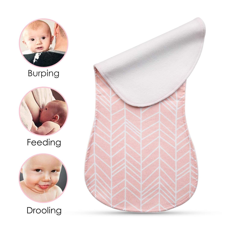 Paños Para Bebés Paños Para Niños Eructo 5 Unidades Baberos de Bebé, Triple Capa, 100% algodón orgánico, grueso, suave y absorbente, para recién nacidos, ...
