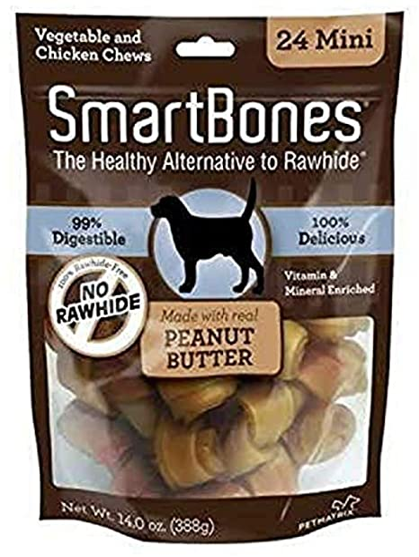SmartBones Rawhide-Free Peanut Butter Mini Bones