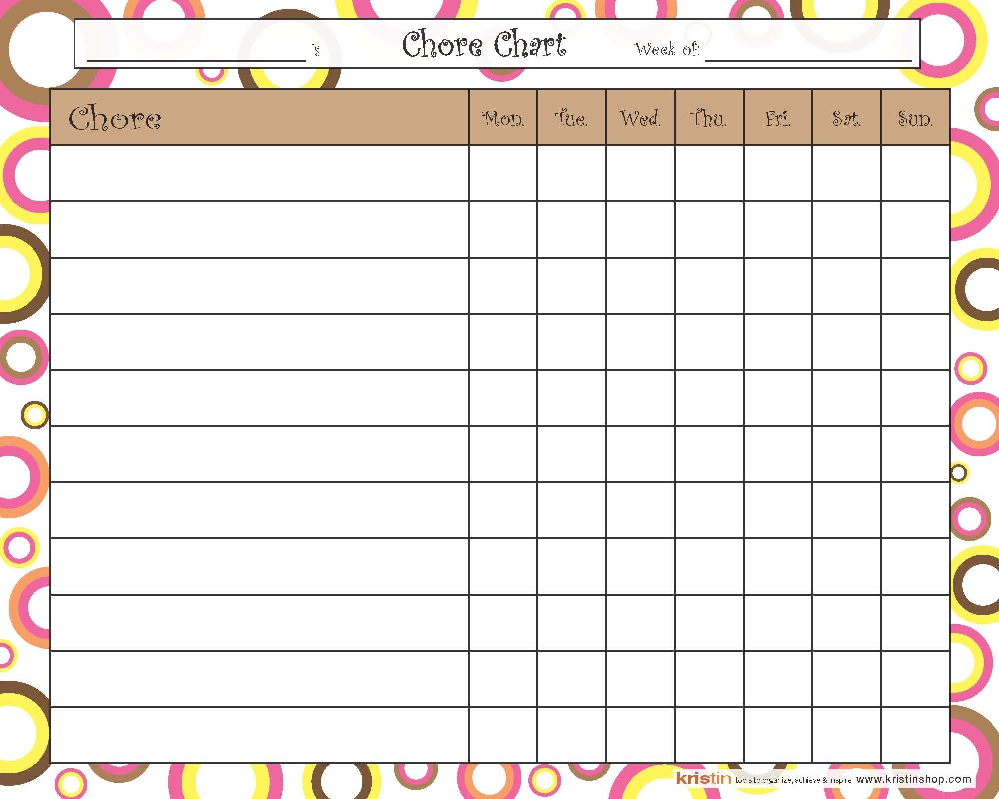 Chore Chart - Circles: For Children, Toddlers, Teens, Kids, Boys, Girls, 50 pages Notepad, Tear-Off Sheets