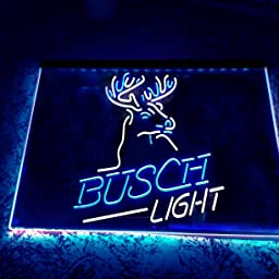 Amazon Com Busch Light Beer Deer Bar Novelty Led Neon Sign Green Yellow W24 X H16 Home Kitchen