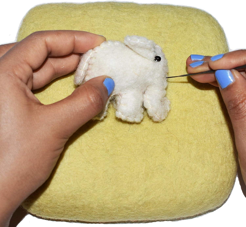 Eco-Friendly Natural Wool Needle Felting 6 x 6, Blue 100/% Woolen Needle Fetling Mat