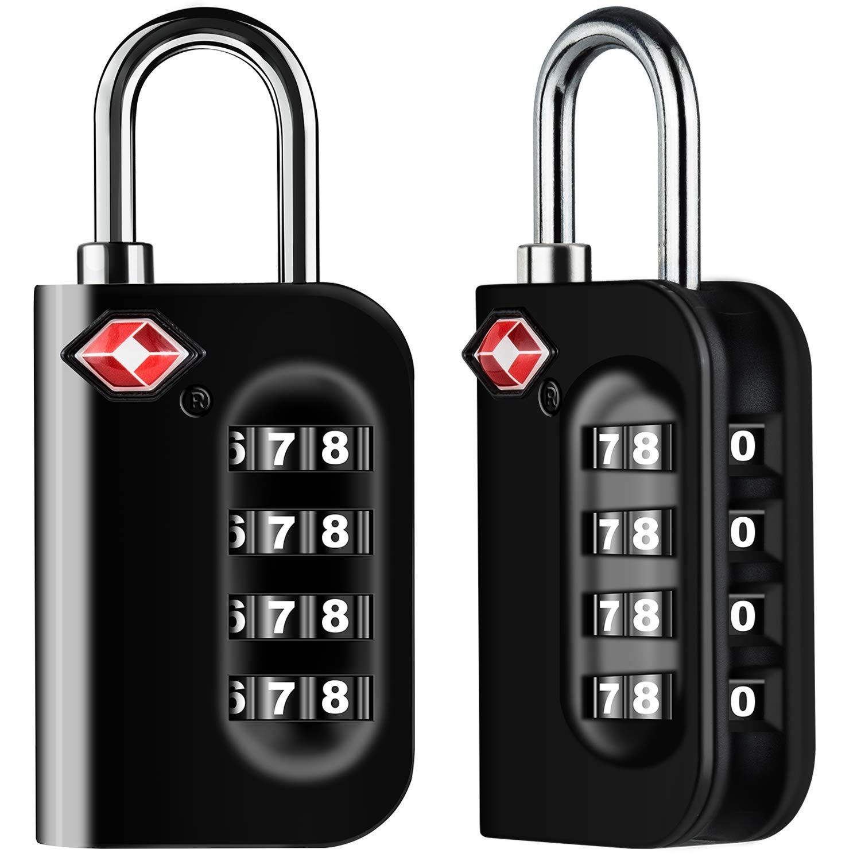 8edfb8fdca2a Diyife TSA Luggage Locks, [Newest Version][2 Packs] 4-Digit Security  Padlock, Combination Padlocks, Code Lock for Travel Suitcases Luggage Bag  Case ...