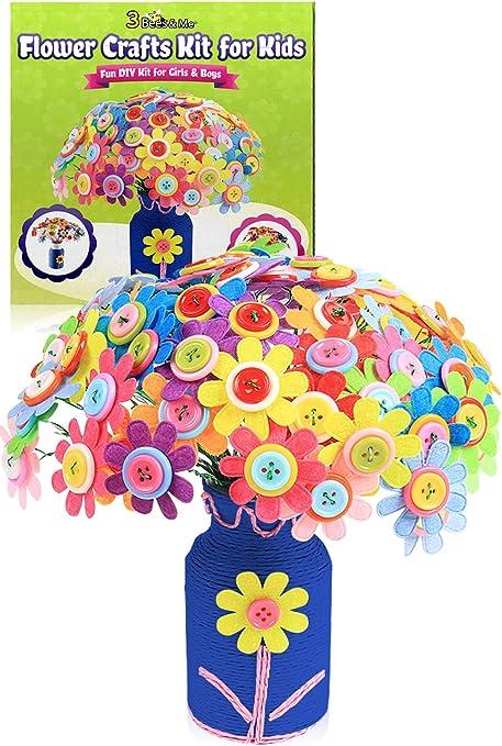 Amazon.com: Kit de manualidades de flores para niños de 5 a ...