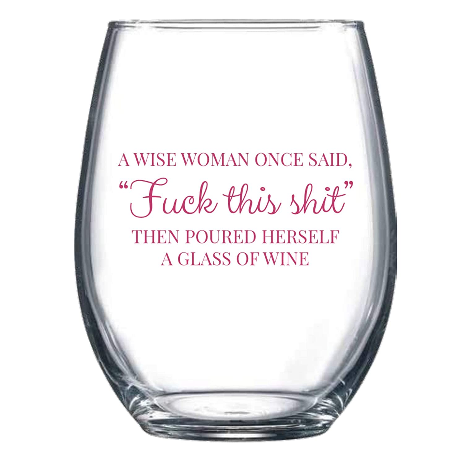 Wine Glass Funny for Women 15oz Stemless - Great Going Away Gifts for CoWorkers Birthday Christmas Gifts Under 20 Dollars