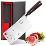 Cleaver Knife - imarku 7 Inch Meat Cleaver - 7CR17MOV German High Carbon Stainless Steel Butcher Knife with Ergonomic Handle