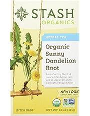 Stash Tea Sunny Dandelion Root Herbal Tea 36 Gram (Pack of 4)