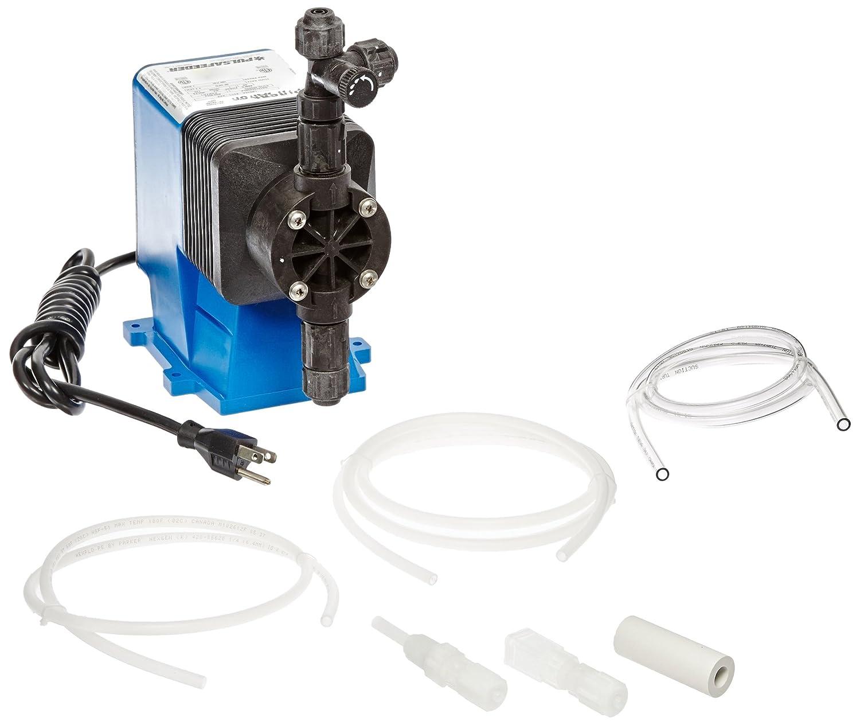 ABS Body Pulsafeeder LB64SA-PTC1 Pulsafeeder Diaphragm Metering Pump 125 Max Strokes//Min 100 psi Max Pressure Adjustable Single Head Polypropylene Head /& Fitting 30 GDP