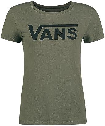 b5697cf6 Vans Flying V Crew Girls Shirt Olive XL: Amazon.co.uk: Clothing