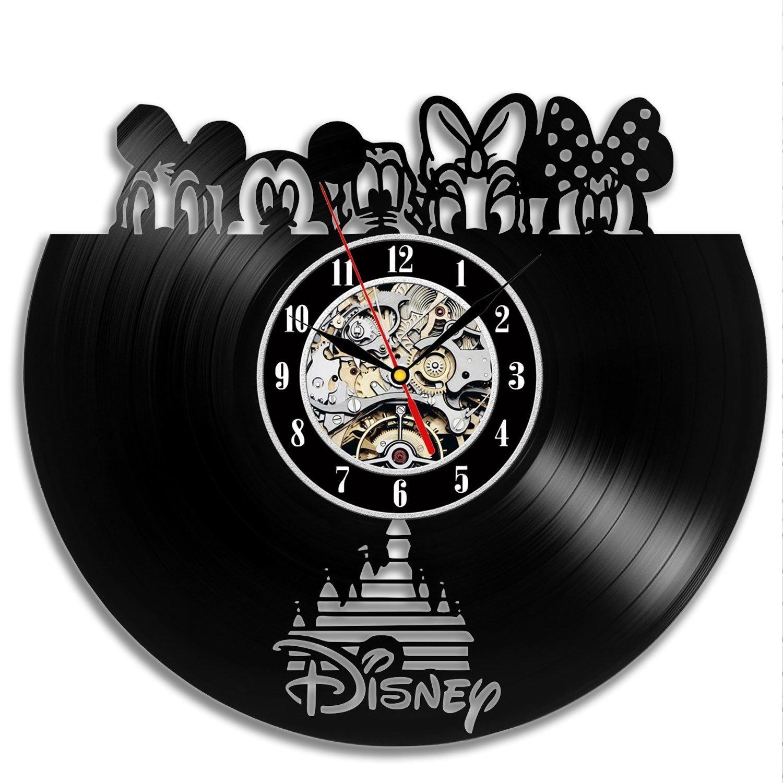 Disney Popular Characters Vinyl Wall Clock Gift Idea Gullei.com