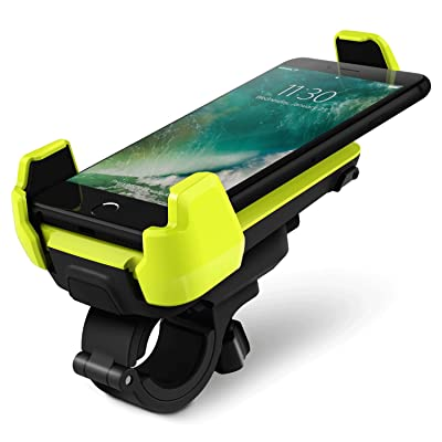 Bike Mount, iOttie Active Edge Bike & Bar, Motorcycle Mount for iPhone 7/6 (4.7)/ 5s/ 5c/4s, Galaxy S9 S9 Plus S8/S7 Edge/S6/S5- Retail Packaging - Electric Lime