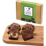 Gourmet Brownie Gift Sampler - 6 Full Size Brownies - Green Gift Box