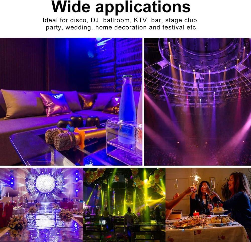 DMX Zoternen LED Effektstrahler B/ühnenbeleuchtung f/ür Party Bar und Geburtsta Voice Steuermodus 54 STK 4 farbige Disco B/ühnenlicht Auto