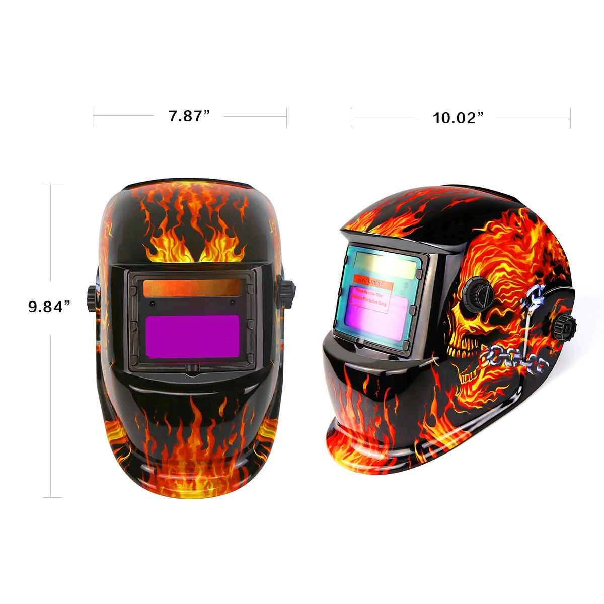 Solar Powered Welding Helmet Auto Darkening Professional Hood with Wide Lens Adjustable Shade Range by DEKOPRO (Image #6)