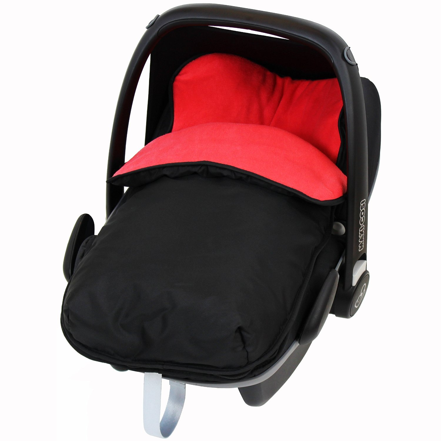 Universal Car Seat Footmuff to Fit All Car Seats - Red (Black/Red) iSafe iSBgtCrsFmRED