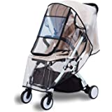 Bemece Stroller Rain Cover Universal, Baby Travel Weather Shield, Windproof Waterproof, Protect from Dust Snow (Black-M…