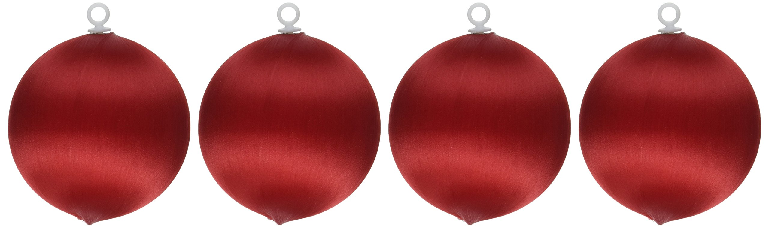 Handy Hands Satin Balls, 3-Inch, Christmas Red
