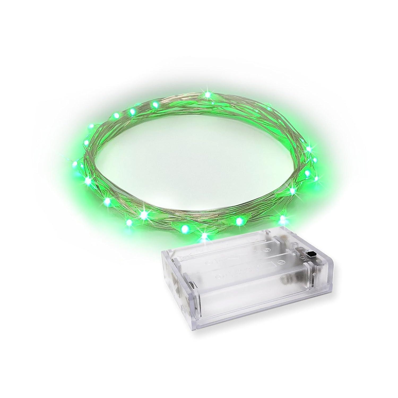 Amazon.com: LED String Lights | Fairy Lights Green Color | Battery ...