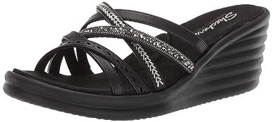 ec2b9e385 Skechers Women s Rumbler Wave-New Lassie Wedge Sandal Black 5 ...