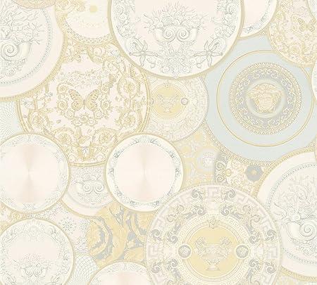 A S Creation 349012 Line Versace 3 Pattern Paper Wallpaper Multi