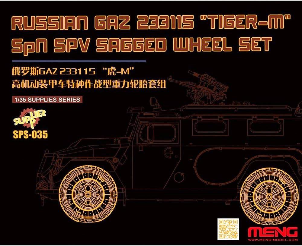 MENG SPS-035 1//35 GAZ 233014 Tiger-M Resin Modellbausatz Reifen