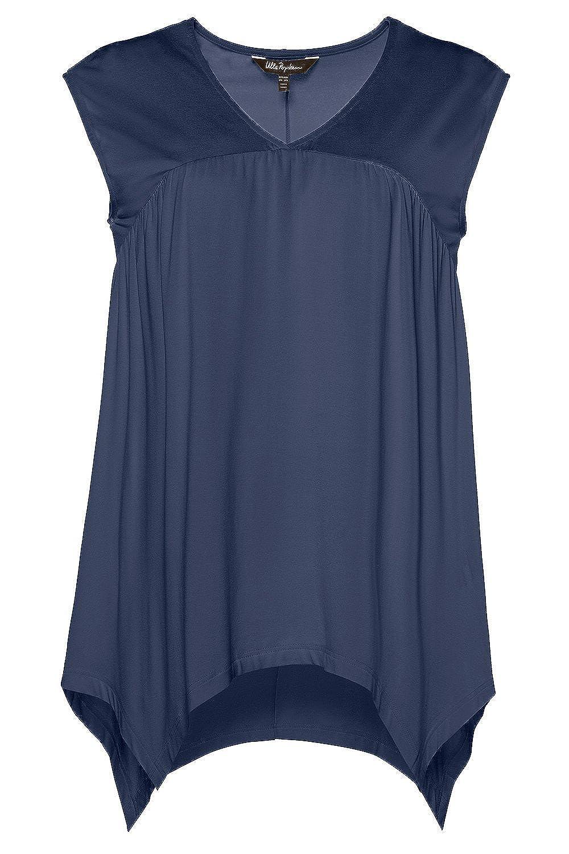 91df073163bc Ulla Popken Women s Plus Size Sharkbite Hem Tank Tee 716184 at Amazon  Women s Clothing store