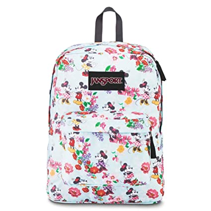 73fbae1e093 Amazon.com  JanSport Disney Superbreak Backpack (Blooming Minnie)  Sports    Outdoors