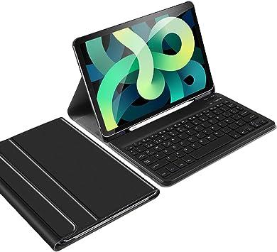 IVSO Español Ñ Teclado para iPad Air 4, Teclado para iPad Air 4 2020, Teclado para iPad Air 4 10.9 2020, Funda con Removible Wireless Teclado con Ñ ...