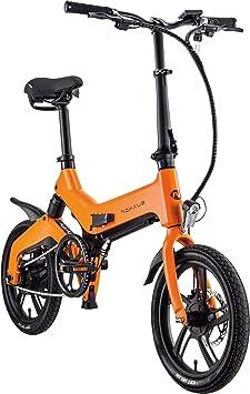 Shengmilo Bicicleta eléctrica Plegable M60, 16 Pulgadas, Plegable ...