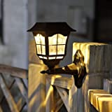 Maggift 6 Lumens Solar Wall Lantern Outdoor Christmas Solar Lights Wall Sconce Solar Outdoor Led Light Fixture with Wall…