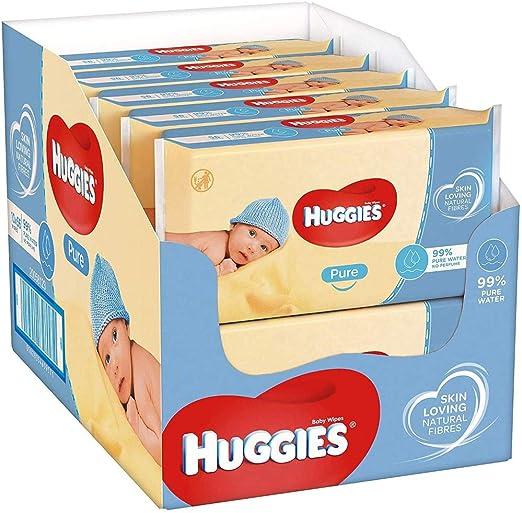 Huggies Feuchte Baby Pflegetücher Pure Multipack 224 Tücher 4x56Stück