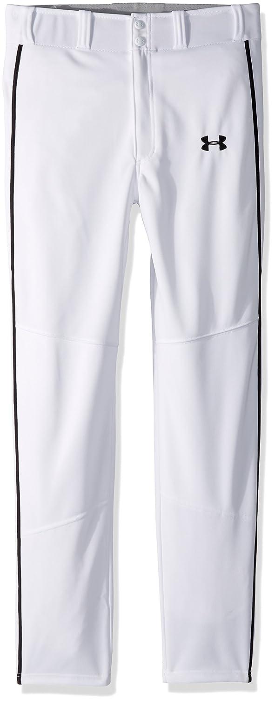 Under Armour 男の子用 Heater Piped Baseballシリーズ ベースボールパンツ 野球着 B0728BP9SQ Youth X-Large ホワイト/ブラック ホワイト/ブラック Youth X-Large