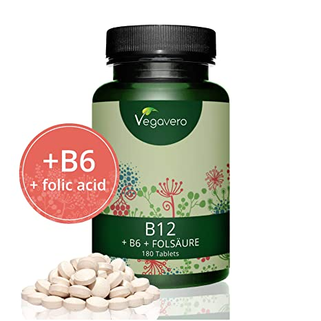 Vitamine B12 (Méthylcobalamine) 1000µg + B6 + Acide Folique (B9)   180 8ffd54070cf