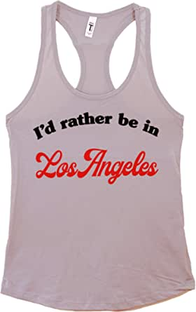 The Bold Banana Women's I'd Rather be in Los Angeles Tank Top