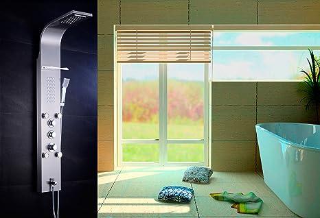 Colonna doccia idromassaggio termostatica di 5 funzioni in materiale