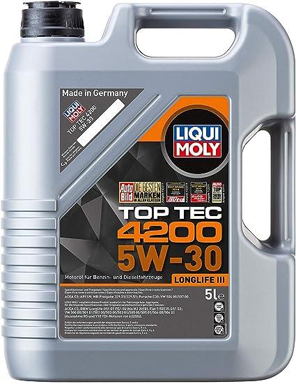Liqui Moly Top Tec 4200 Aceite de Motor 5W-30: Amazon.es: Coche y moto
