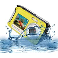 Underwater Camera Full Hd 1080P Waterproof Digital Camera 24.0MP Underwater Digital Camera Dual Screen Point and Shoot Waterproof Camera