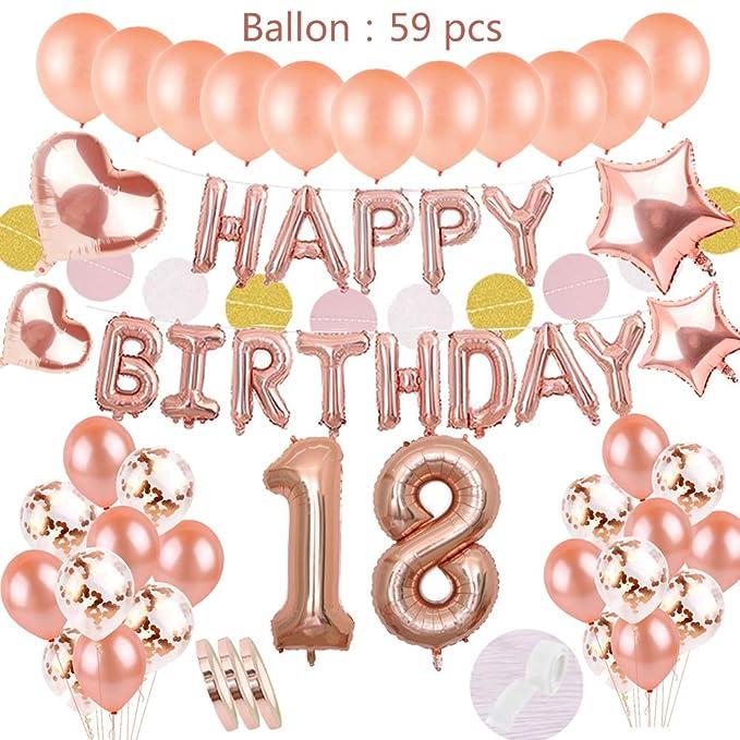 globos para cumpleaños de 18 AÑOS.